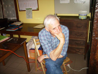 Georges au Gîte du Paty lors dune conférence à Nature En Bray