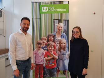 Bild vom 9.Februar 2018 in München SOS-Kinderdorf e.V. von links Stefan Jelinek und Frau Korn. Copyright von SOS-Kinderdorf e.V.