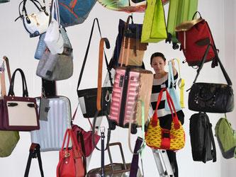 Neueste Taschen- , Koffer- und Accessoire-Trends bei der Internationalen Lederwarenmesse (ILM) in Offenbach. Foto: Arne Dedert