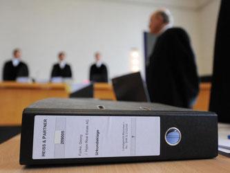 Ein Aktenordner zum Fall Georg Funke - Hypo Real Estate (HRE). Foto: Andreas Gebert/Archiv