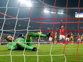 Robert Lewandowski und der FC Bayern besiegten den FC Arsenal mit 5:1. Foto: Sven Hoppe