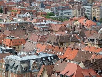 Blick auf ein Wohnquartier in der Innenstadt von Stuttgart. Foto: Franziska Kraufmann/Archiv