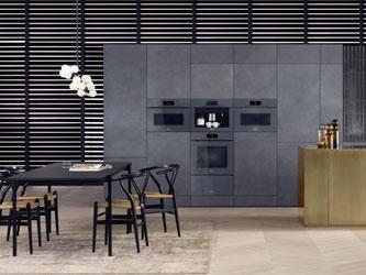 Unauffällige Integration: Die Hausgeräte der Küchenserie Art Line von Miele fügen sich bündig in die Küchenzeile ein. Eine Küche wirkt so kaum noch wie eine altbekannte Küche. Foto: Miele