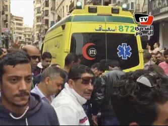 Ein Selbstmordattentäter sprengte sich außerhalb einer Kirche in der Hafenstadt Alexandria in die Luft. Foto: Uncredited