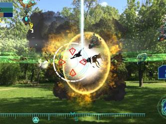 Auch «Clandestine: Anomaly» bringt eine Science-Fiction-Story in unsere reale Welt. Die zu bekämpfenden Aliens werden auf dem Bildschirm in die Umgebung des Spielers eingeblendet. Screenshot: Zenfri Foto: Zenfri