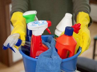 Braucht man sie alle? Nein, finden Experten. Es reichen für die meisten Zwecke im Haus drei Reiniger aus. Foto: Kai Remmers