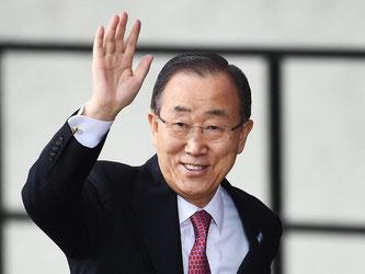 Ban Ki Moon wurde in Baden-Baden geehrt. Foto: Andy Rain/Archiv
