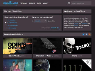 Das Portal shortfil.ms bietet eine umfangreiche Sammlung an Kurzfilmen, und täglich kommen neue Werke hinzu. Foto: www.shortfil.ms