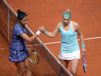 Sabine Lisicki machte gegen Sarina Dijas aus Kasachstan kein einziges Spiel. Foto: Marijan Murat