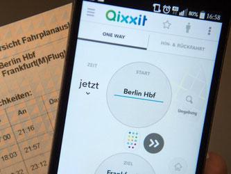 Als einzige Mobilitäts-App bewerten die Tester von Stiftung Warentest «Qixxit» als «hilfreich». Foto: Sebastian Gollnow