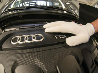 Produktion im Audi-Werk in Ingolstadt. Foto: Armin Weigel