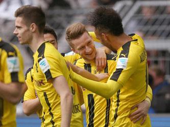 Marco Reus traf bei seinem Comeback für Borussia Dortmund zum 1:0. Foto: Ina Fassbender