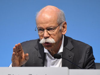 Daimler-Chef Dieter Zetsche bei der Jahrespressekonferenz des Konzerns. Foto: Uli Deck