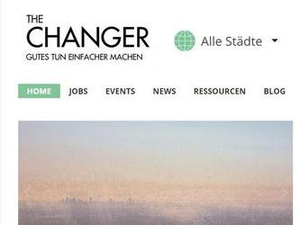 «The Changer» - Web-Plattform für Jobs und soziale Projekte