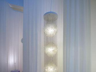 "Die Lampe ""Fun 3DM"" von Verner Panton steht im Vitra Design Museum. Foto: Georgios Kafalas/Archiv"