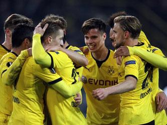 Borussia Dortmund feierte gegen Tottenham Hotspur einen ungefährdeten 3:0-Erfolg. Foto: Ina Fassbender