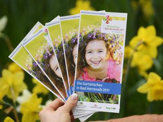 Flyer zur Gartenschau 2017 in Bad Herrenalb. Foto: Uli Deck