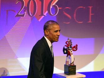 Der ehemalige US-Präsident Barack Obama im Kongresszentrum in Baden-Baden. Foto: Uli Deck
