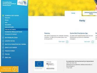 Informationen rund um Internet und Telekommunikation sind nur eines von vielen Verbraucherthemen auf den neuen Seiten des EU-Verbraucherzentrums. Foto: evz.de