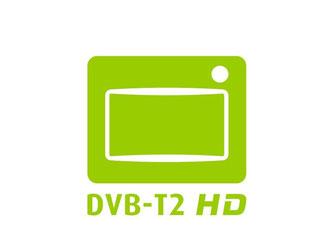 Fernseher und Empfänger, die dieses Logo tragen, erfüllen die Anforderungen des neuen Antennenfernsehens DVB-T2 HD in Deutschland. Foto: Deutsche TV-Plattform