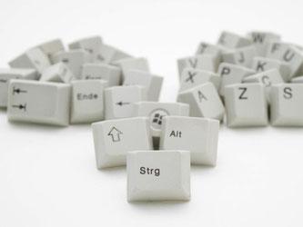 Mit der Tastatur kann man nicht nur Texte schreiben, sondern auch viel Mausklickerei sparen - mit den richtigen Tastenkombinationen. Foto: Inga Kjer