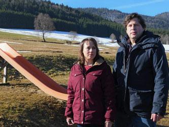 Eva Löbau und Hans-Jochen Wagner in Bernau im Schwarzwald. Foto: Winfried Rothermel