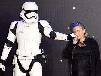 2015 war Fisher in «Star Wars: Das Erwachen der Macht» auf die Leinwand zurückgekehrt. Foto: Facundo Arrizabalaga