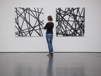 François Morellet: «20 zufällige Linien» und «40 zufällige Linien» (r) aus dem Jahr 1971. Foto: Marijan Murat
