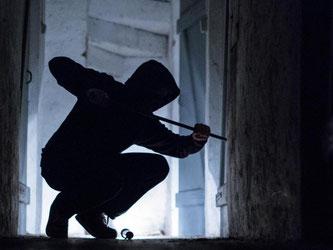 Die Silhoutte eines Mannes mit Brecheisen ist in einem Keller zu sehen. Foto: Silas Stein/Archiv