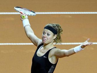 Laura Siegemund hat sich in Stuttgart ins Finale gespielt. Foto: Bernd Weissbrod