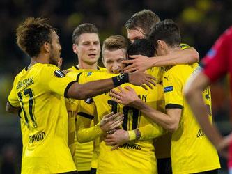 Die Dortmunder haben den Sprung ins 1/16-Finale der Europa League geschafft. Foto: Guido Kirchner