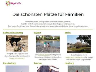 Auf der Webseite Mykidds.com können Eltern Ausflugsziele entdecken, die besonders gut für Kinder geeignet sind. Foto: Mykidds.com/dpa-tmn