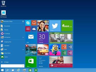 Bei Windows 10 ist das Startmenü zurückgekehrt. Wen hier die App-Kacheln stören, kann sie mit einem Trick loswerden. Foto: Microsoft