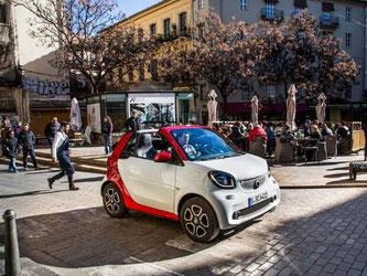 Das Smart Cabrio Fortwo kommt im März auf den Markt. Foto: Smart