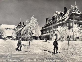 Im «Feldberger Hof» - hier eine historische Aufnahme von ca. 1911 - konnten sich früher nur wohlhabende Menschen eine Übernachtung leisten - Wintersport war damals noch kein Massenphänomen. Foto: Hotel Feldberger Hof