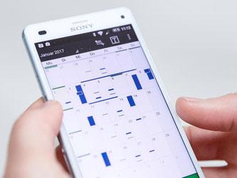 Frei oder verplant: Mit Kalender-Apps hat man die Woche gut im Blick. Foto: Florian Schuh