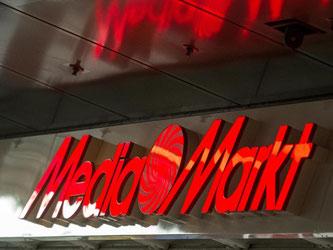 Das Logo der Elektronikkette Media Markt. Foto: Alexander Heinl/Archiv