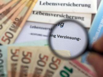 Der sogenannte Garantiezins soll nach Informationen der Deutschen Presse-Agentur zum 1. Januar 2017 auf 0,9 Prozent sinken - von aktuell 1,25 Prozent. Foto: Jens Büttner