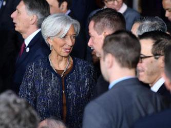Die Chefin des Internationalen Währungsfonds (IWF), Christine Lagarde, beim Treffen der G20-Finanzminister in Baden-Baden. Foto: Uwe Anspach