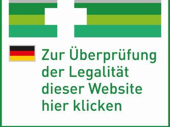 An diesem EU-Sicherheitslogo erkennt man seriöse Internet-Apotheken. Foto: DIMDI