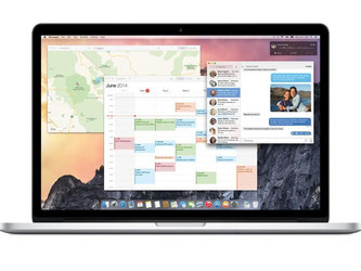 Eine schlanke Schrift, die von der mobilen iOS-Welt inspirierte Mitteilungszentrale, eine verbesserte Suche und der aufpolierte Safari-Browser: Apples neues Mac-Betriebssystem OS X Yosemite hat einiges zu bieten. Foto: Apple