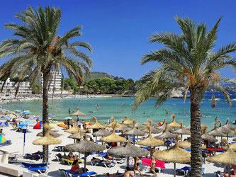 Urlauber auf der spanischen Baleareninsel Mallorca. Foto: Andreas Lander