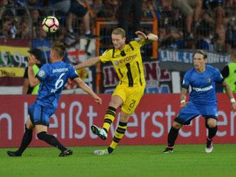 Mit dem Treffer von André Schürrle kurz vor der Halbzeit war das Spiel bereits entschieden. Foto: Harald Tittel