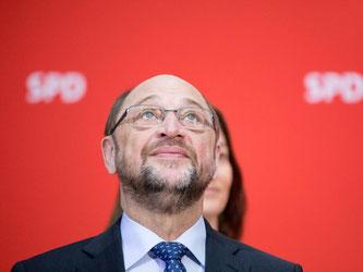 SPD-Kanzlerkandidat Martin Schulz nach Bekanntgabe der Saar-Ergebnisse im Willy-Brandt-Haus in Berlin. Foto: Kay Nietfeld