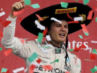 Nico Rosberg feierte seinen Erfolg in Mexiko. Foto: Jose Mendez