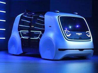 VW präsentiert auf dem Genfer Autosalon «Sedric», einen Konzeptentwurf für autonomes Fahren. Foto: Uli Deck