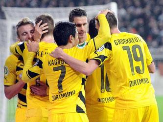 Die Dortmunder konnten endlich mal wieder einen Sieg feiern, wenn auch nur im Pokal. Foto: Daniel Bockwold