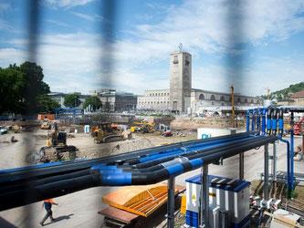 Baustelle Stuttgart 21. Foto: Daniel Naupold/Archiv