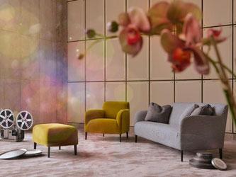Gemütliches Wohnen bleibt im Trend, dabei werden die Sofas aber wieder schmaler und filigraner.  Foto: Koelnmesse