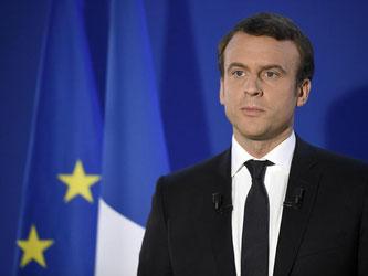 Es lebe die Republik, es lebe Frankreich.» Der künftige französische Präsident Emmanuel Macron nach seinem Wahlsieg. Foto: Lionel Bonaventure